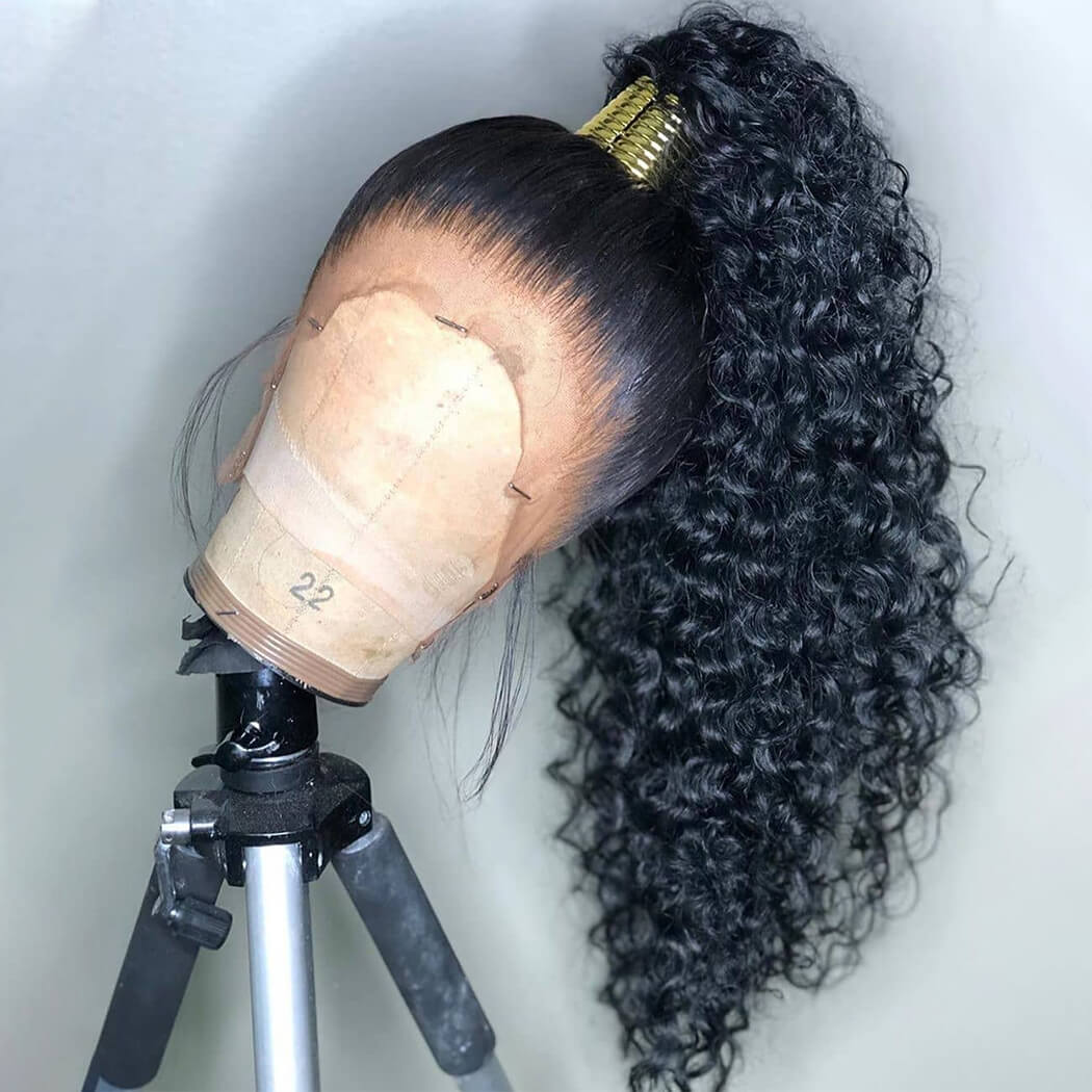 wig curly human hair