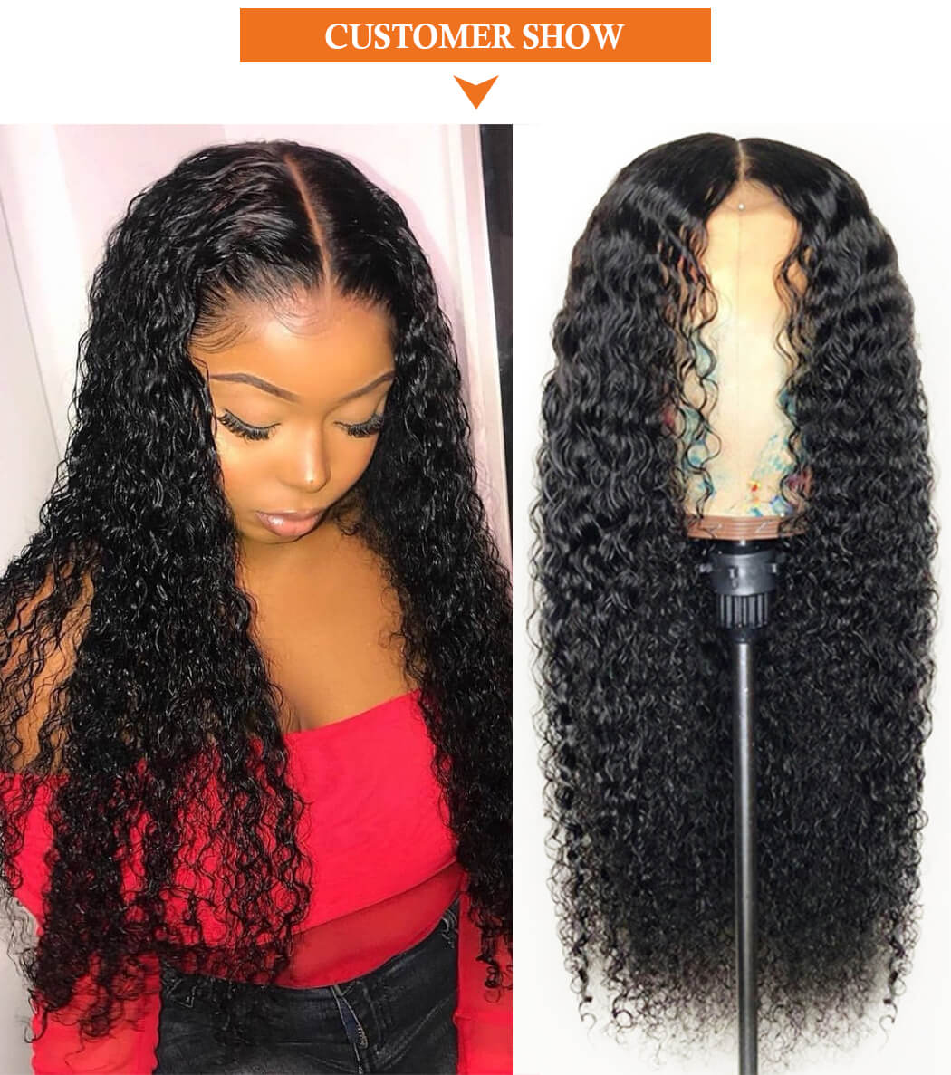 Lace Front Wigs For Women 150% Density Pre Plucked Lace Frontal Wig Human Hair