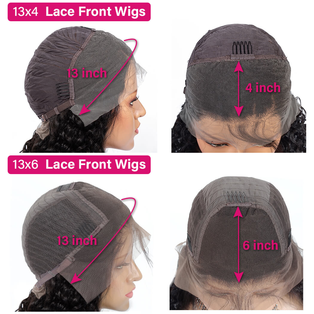 13x6 Glueless Lace Front Human Hair Wigs Pre Plucked For Black Women