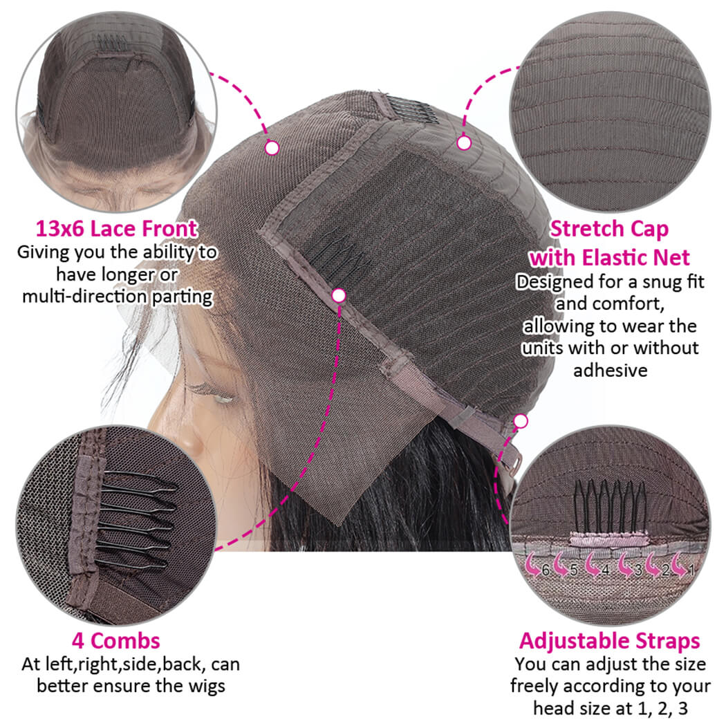 lacefront wig preplucked human hair