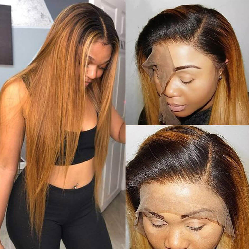 1b 30 lace front human hair wigs
