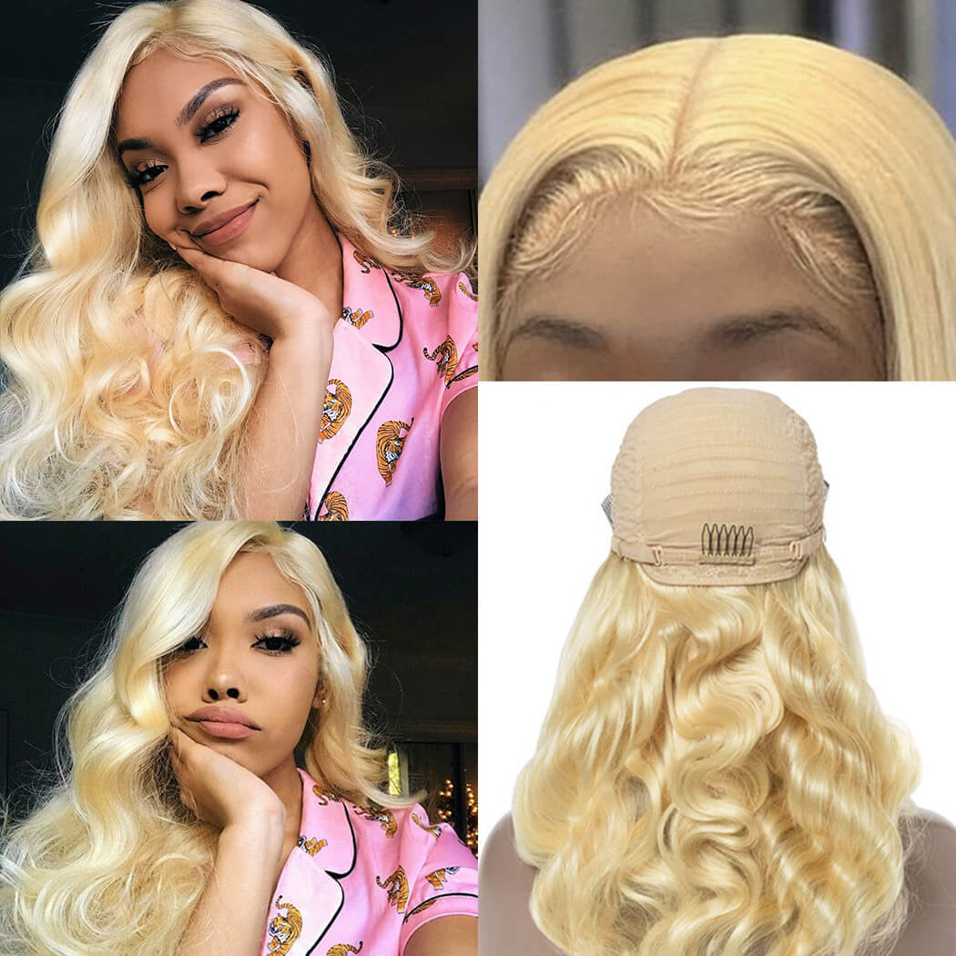 blond lace front wigs
