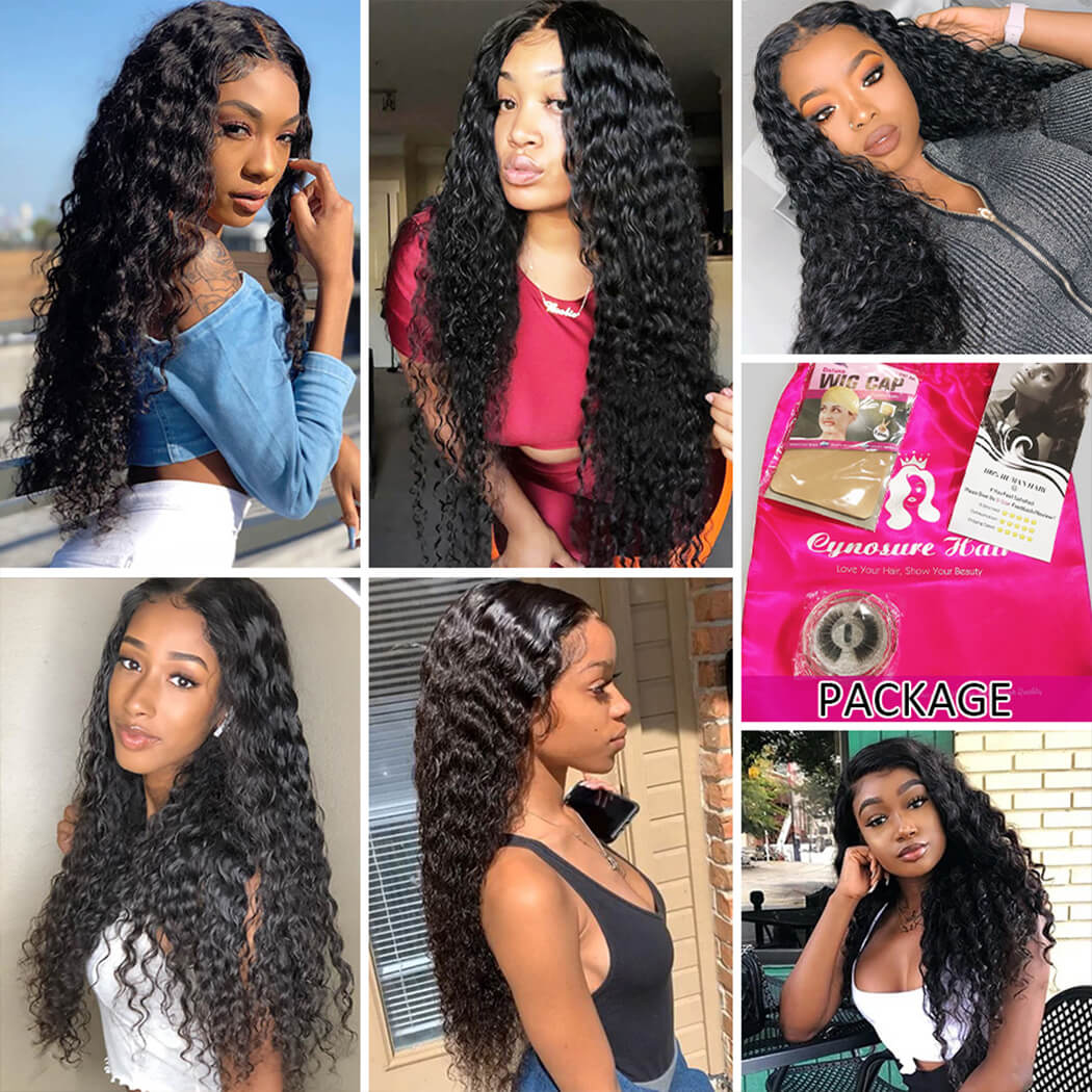 13X6 lace front wigs human hair pre plucked
