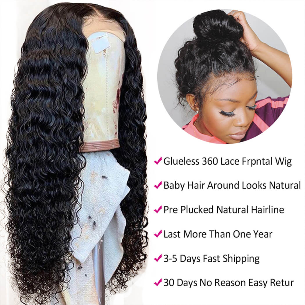 deep wave 360 lace wig