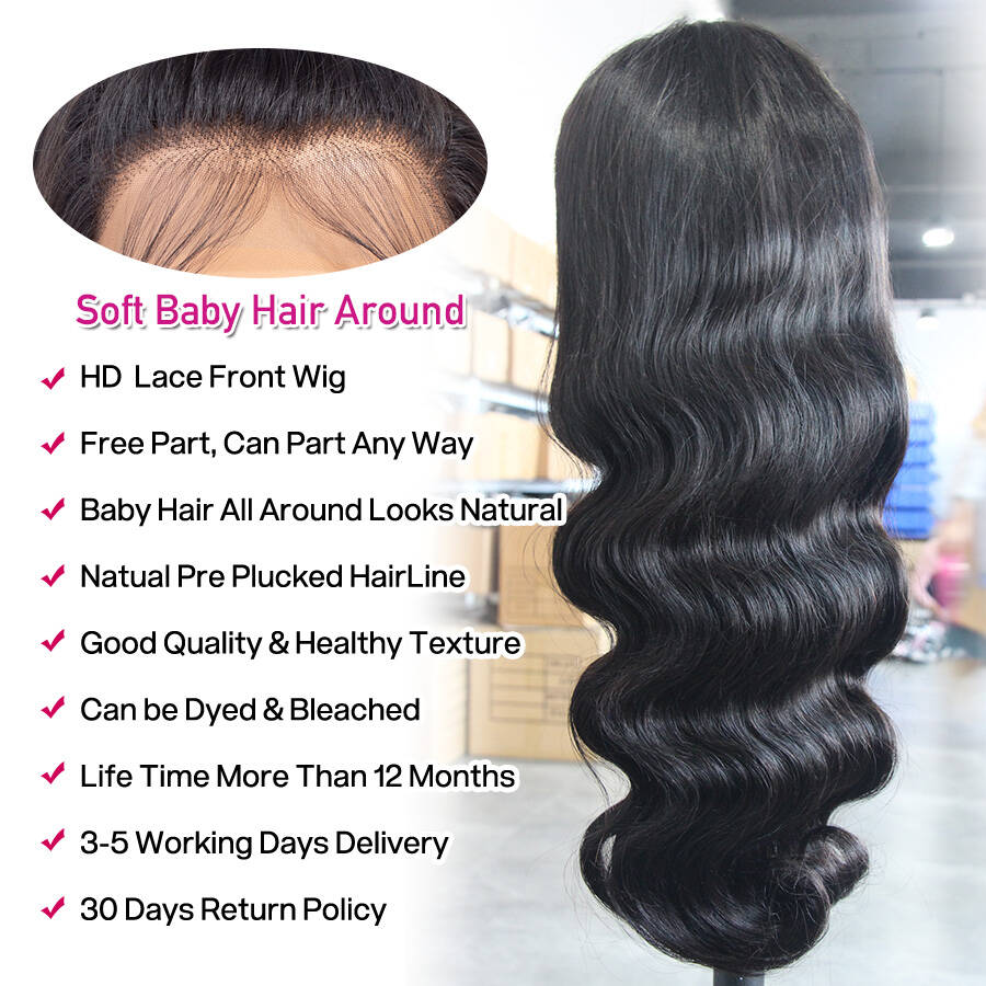 Body Wave HD Lace Wig With Description