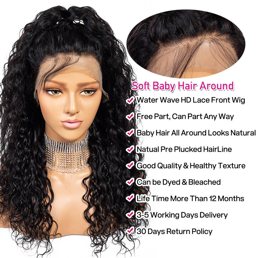 Water Wave HD Lace Wig Product Description
