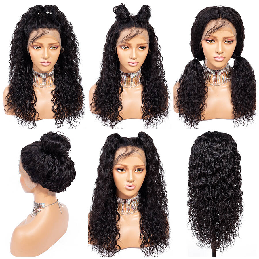 Water Wave HD Lace Wig With Different Hair Style