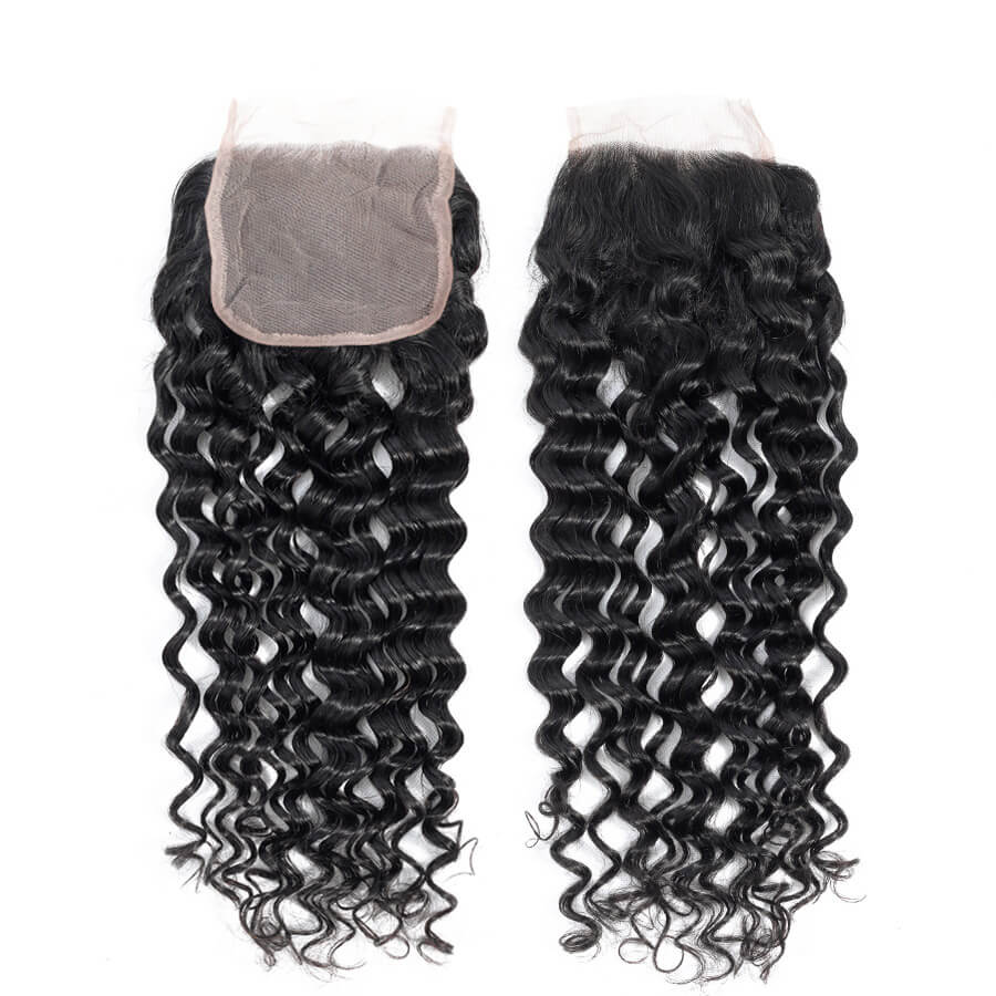 Cynosure Malaysian water wave closure 4x4 HD lace curly closure