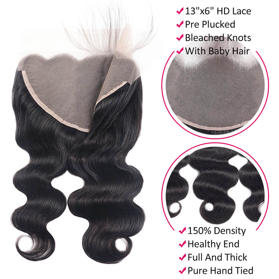 Body Wave HD 13x6 Lace Frontal Description