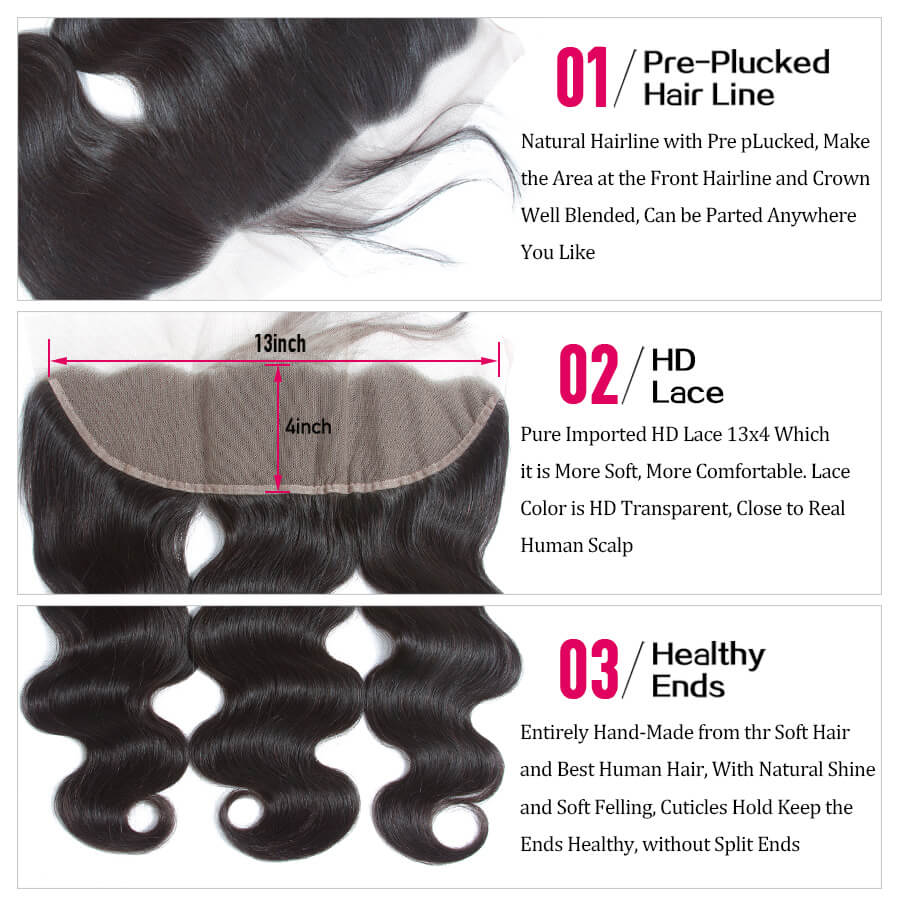 Body Wave HD 13x4 Lace Frontal Description