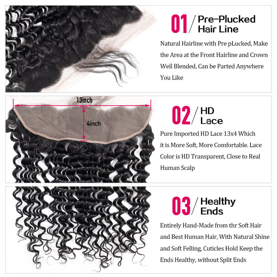 Deep Wave 13x4 HD Lace Frontal Description