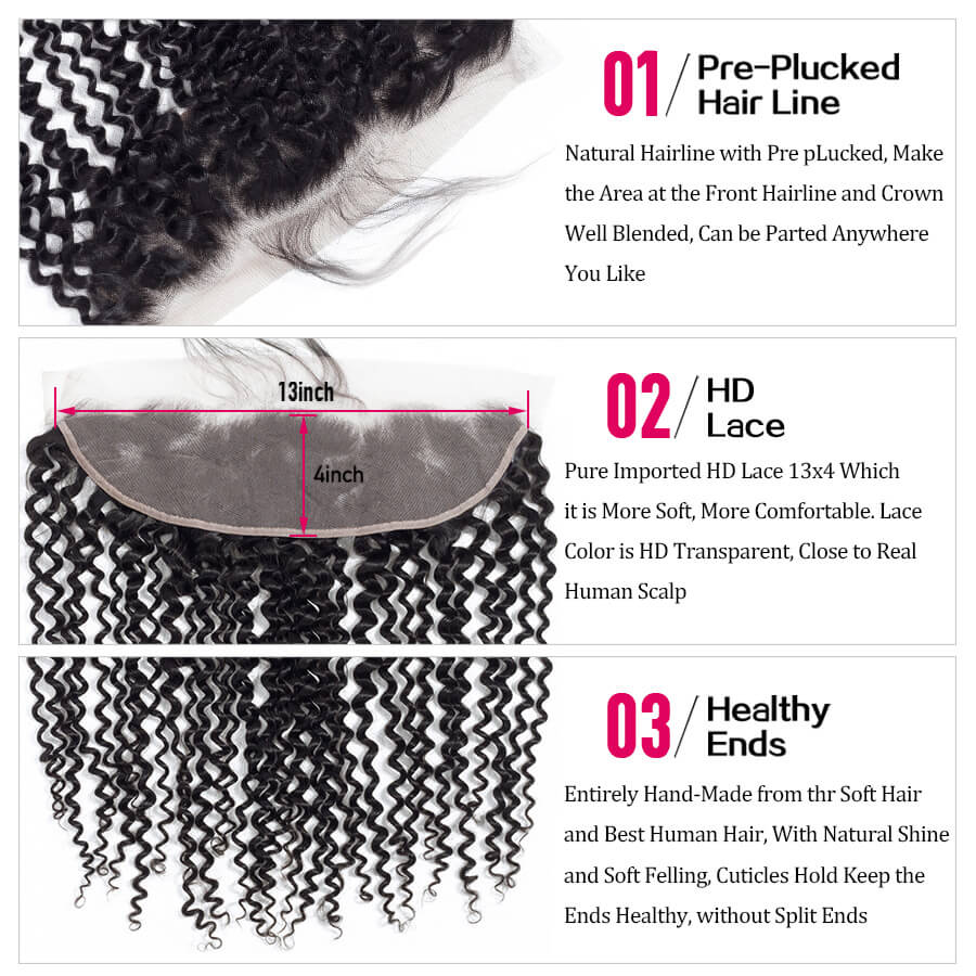 Curly Hair HD 13x4 Lace Frontal Decription