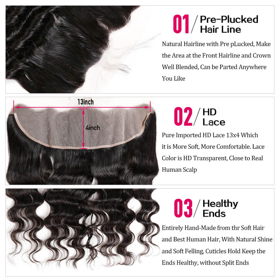 Loose Deep Wave 13x4 HD Lace Frontal Description
