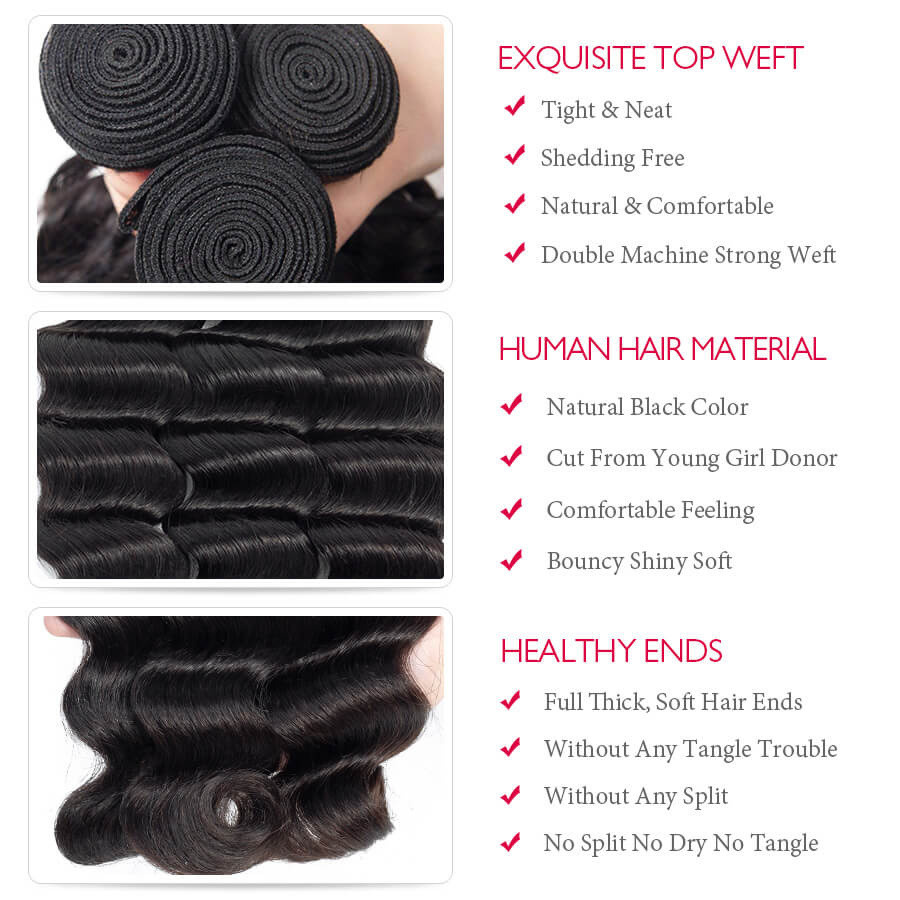 Loose Deep Wave Hair Bundles Description