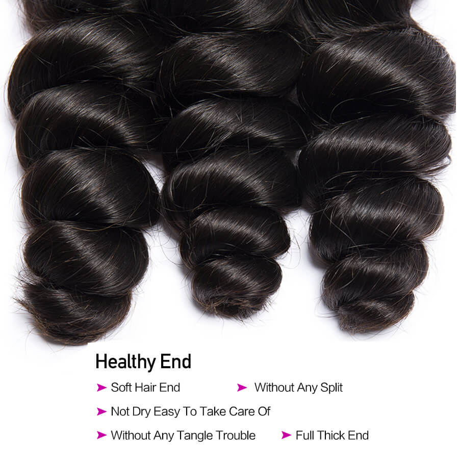 Loose Wave 3 Bundles Hair Detail Decription