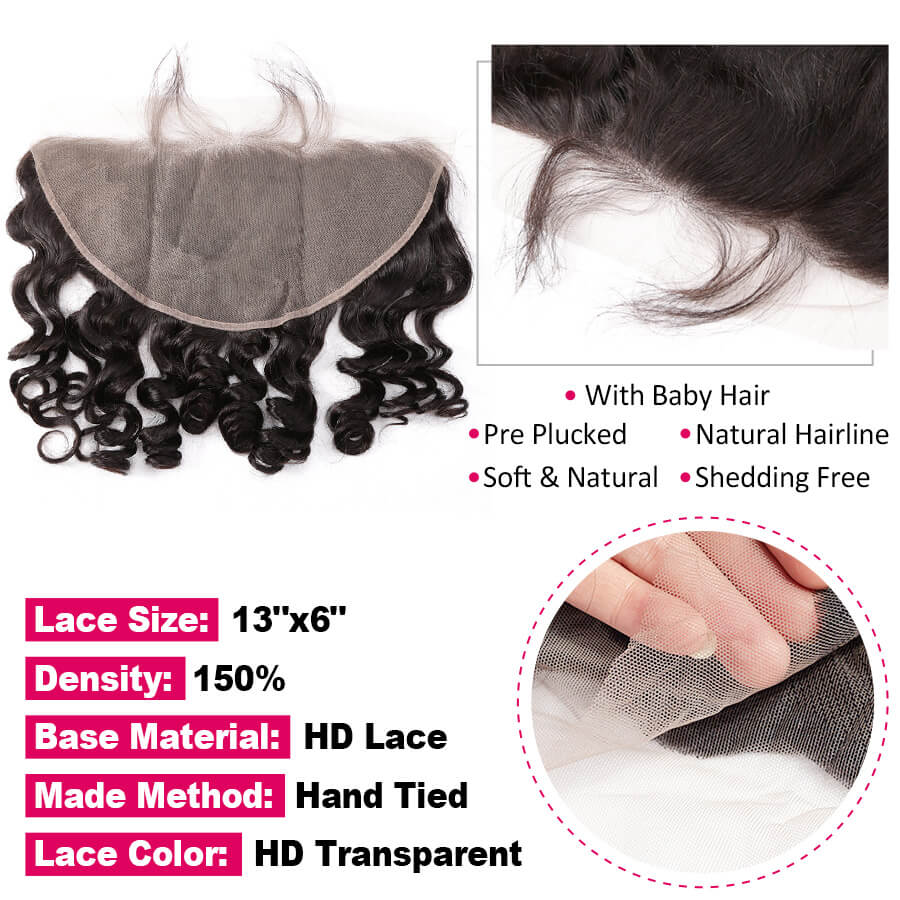 Loose Wave HD 13x6 Lace Frontal Description