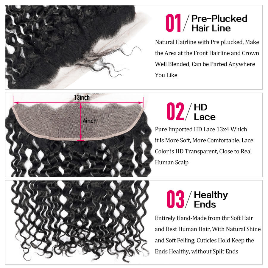 Water Wave HD 13x4 Lace Frontal Description