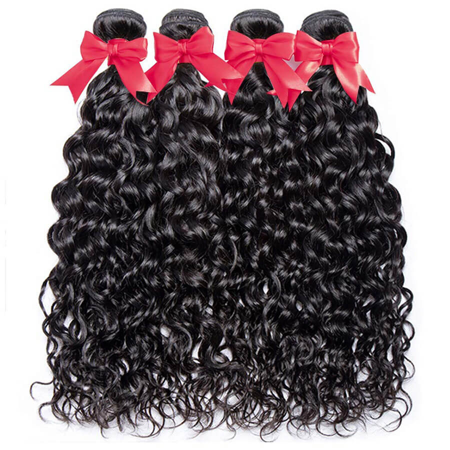 Water Wave 4 Bundles Hair Show
