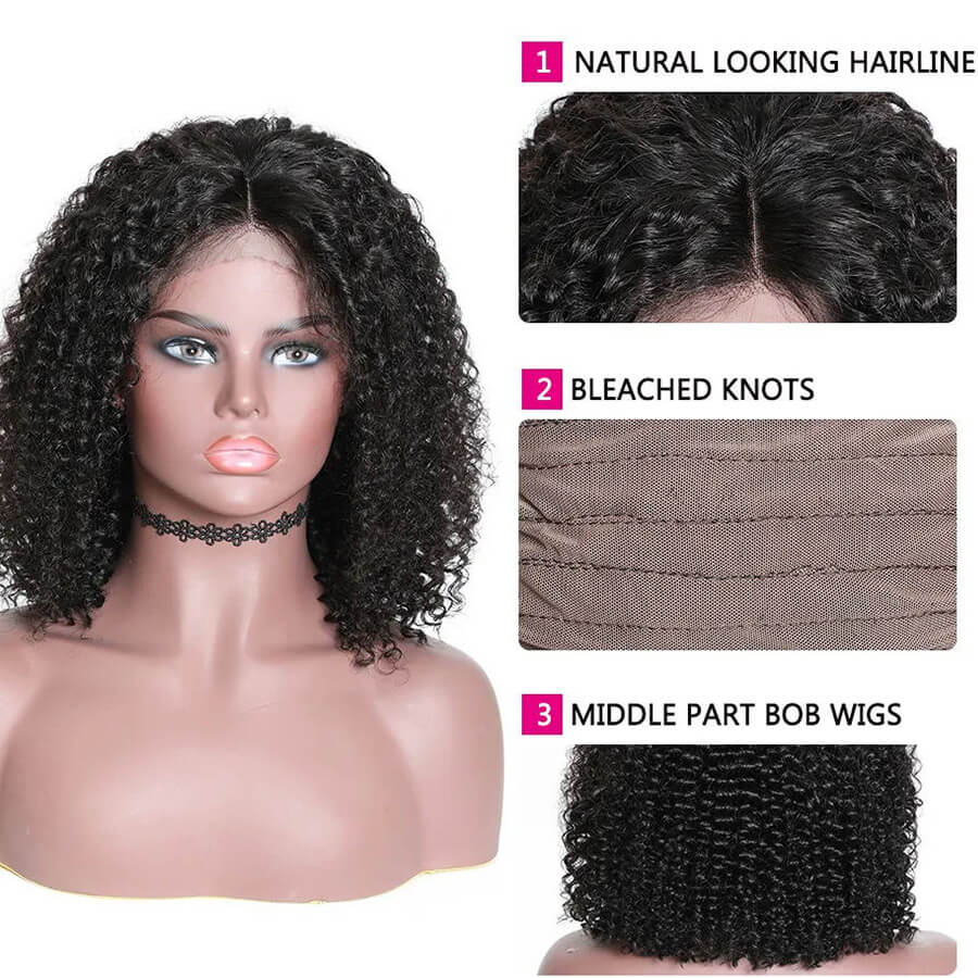 curly hd lace bob wigs description