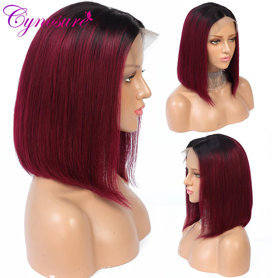 Cynosure red hair bob cut wigs